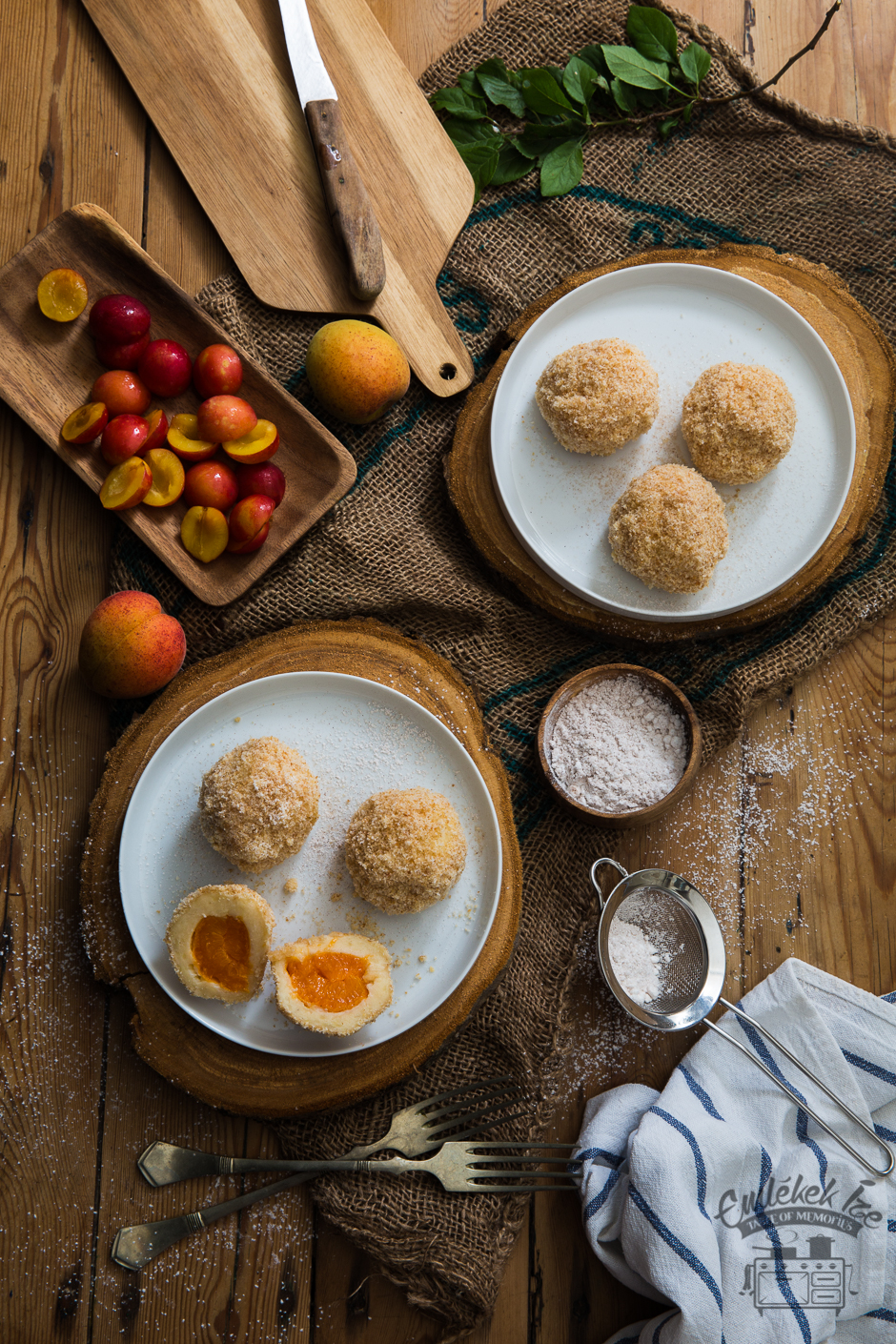 cherry plum and apricot dumplings made with love in the Taste of Memories countryside kitchen