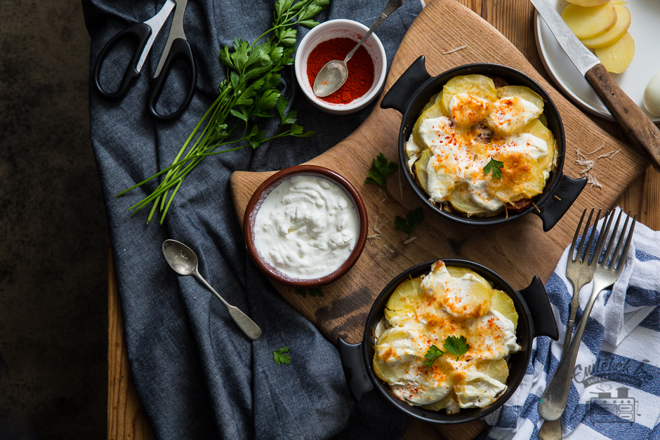 Hungarian layered potatoes from the Taste of Memories countryside kitchen