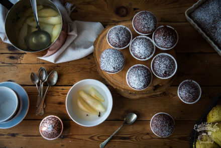 cocoa cake with pear compote from the Taste of Memories country kitchen