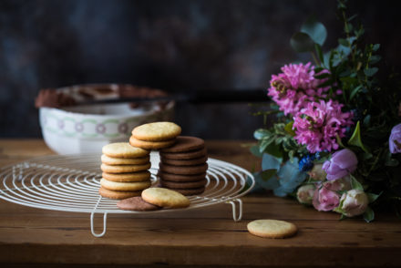 two-coloured biscuits from the Taste of Memories country kitchen